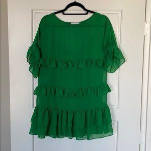 Revolve Lovers + Friends green mini dress